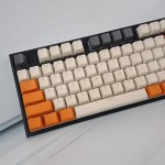 Keycaps White Grey Orange 108 Tuts PBT OEM Backlit