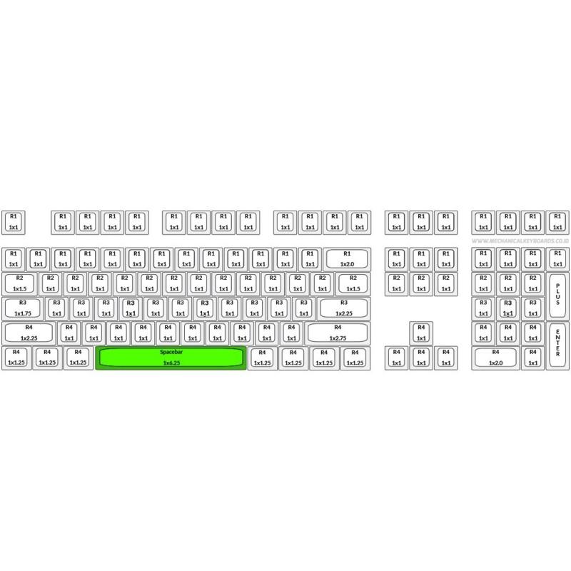 Varmilo Mint Green PBT Spacebar Keycap
