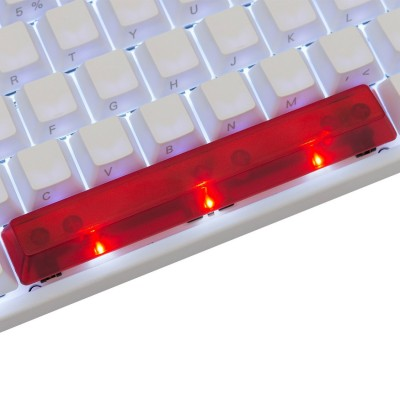 KeyPop Translucent Red Spacebar Keycap