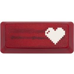 KeyPop Translucent Red 8-Bit Heart Enter Keycap
