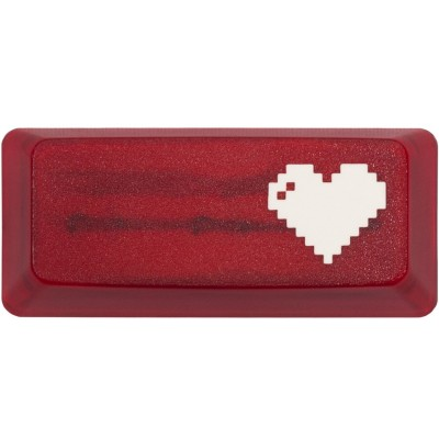KeyPop Translucent Red 8-Bit Heart Enter Keycap