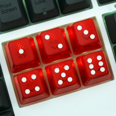 TechKeys Vegas Dice Keycap Set