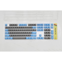 Ducky Blue & Gray PBT Dye Sublimated Keycap Set