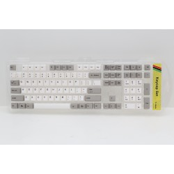 Ducky Gray & White PBT Dye Sublimated Keycap Set
