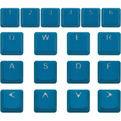 Tai-Hao Sky Blue Rubber Backlit Gaming Keycap Set