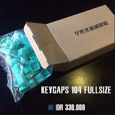 Keycaps Backlit Crystal 104 Tuts - Blue