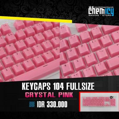 Keycaps Backlit Crystal 104 Tuts - Pink