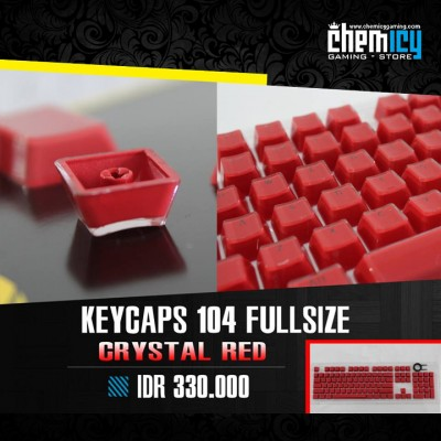 Keycaps Backlit Crystal 104 Tuts - Red