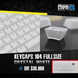 Keycaps Backlit Crystal 104 Tuts - White