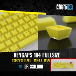 Keycaps Backlit Crystal 104 Tuts - Yellow
