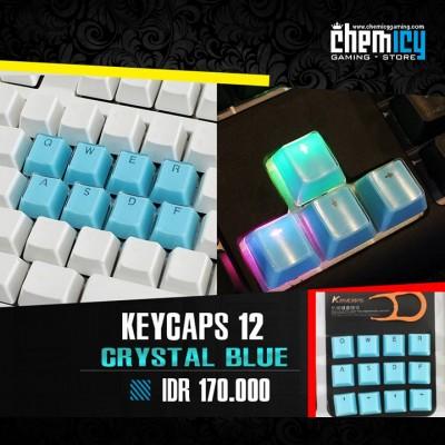 Keycaps Backlit Crystal 12 Tuts - Blue