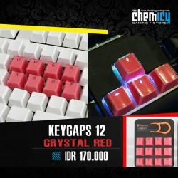 Keycaps Backlit Crystal 12 Tuts - Red