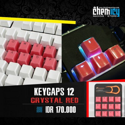 Keycaps Backlit Crystal 12 Tuts - Red