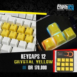 Keycaps Backlit Crystal 12 Tuts - Yellow