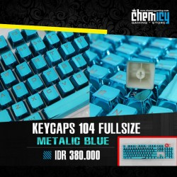 Keycaps Backlit Metallic 104 Tuts - Blue