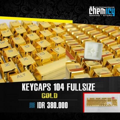 Keycaps Backlit Metallic 104 Tuts - Gold