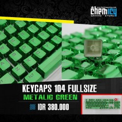 Keycaps Backlit Metallic 104 Tuts - Green