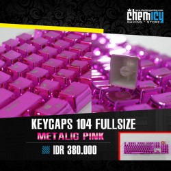 Keycaps Backlit Metallic 104 Tuts - Pink
