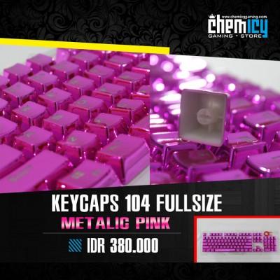 Keycaps Backlit Metallic 104 Tuts - Pink