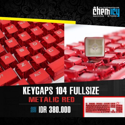 Keycaps Backlit Metallic 104 Tuts - Red