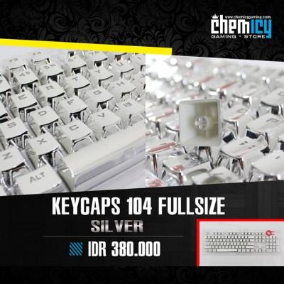 Keycaps Backlit Metallic 104 Tuts - Silver