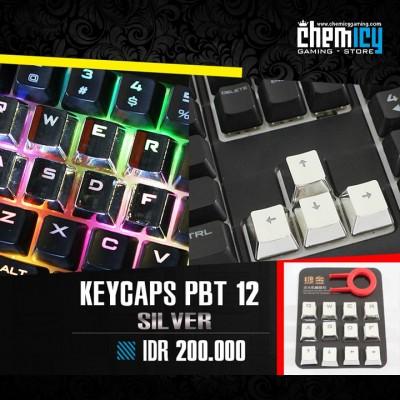 Keycaps Backlit Metallic 12 Tuts - Silver