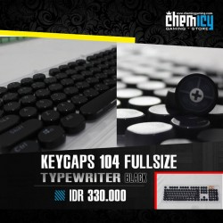 Keycaps Backlit Typewriter 104 Tuts - Black
