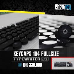 Keycaps Backlit Typewriter 104 Tuts - Black