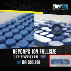 Keycaps Backlit Typewriter 104 Tuts - Blue