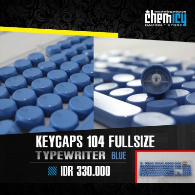 Keycaps Backlit Typewriter 104 Tuts - Blue