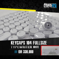 Keycaps Backlit Typewriter 104 Tuts - White