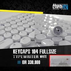 Keycaps Backlit Typewriter 104 Tuts - White