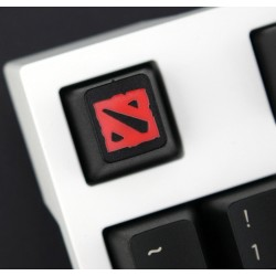 Dota 2 PBT Keycap (Red on Black)