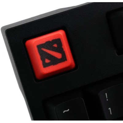 Dota 2 PBT Keycap (Black on Red)