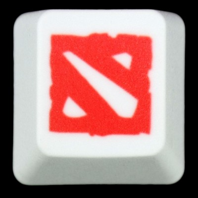 Dota 2 PBT Keycap (Red on White)