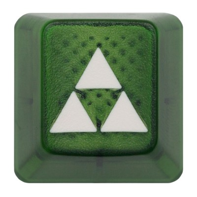 KeyPop Translucent Triforce Keycap (White on Green)