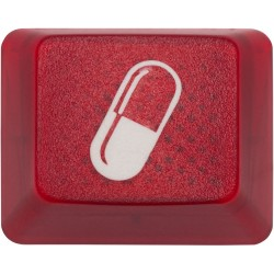 KeyPop Translucent 1x1.25 Red Pill Keycap