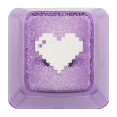 KeyPop Translucent Purple 8-Bit Heart Keycap
