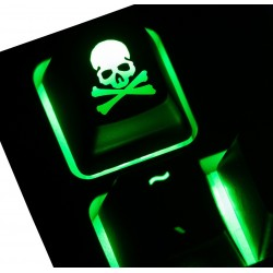 Skull & Crossbones ABS Backlit Keycap