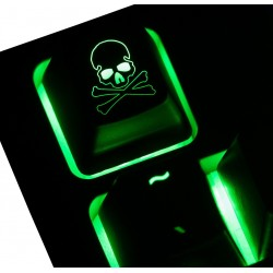 Skull & Crossbones - Reversed ABS Backlit Keycap