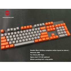 Tai-Hao Gray & Orange ABS Double Shot Keycap Set