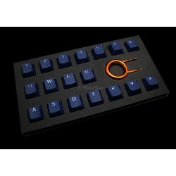 Tai-Hao Dark Blue Rubber Backlit Gaming Keycap Set