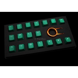 Tai-Hao Green Rubber Backlit Gaming Keycap Set