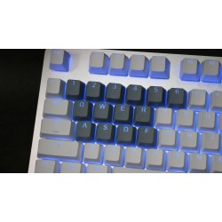 Tai-Hao Gray Rubber Backlit Gaming Keycap Set