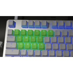 Tai-Hao Neon Green Rubber Backlit Gaming Keycap Set