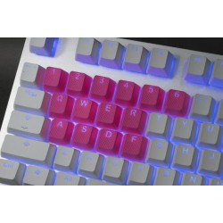 Tai-Hao Neon Pink Rubber Backlit Gaming Keycap Set