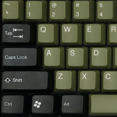 Tai-Hao Army Green & Black ABS Double Shot Keycap Set