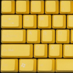 Tai-Hao Light Yellow ABS Double Shot Keycap Set