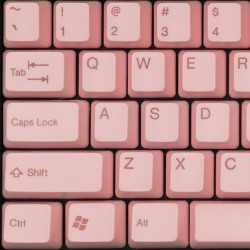 Tai-Hao Valentine Pink ABS Double Shot Keycap Set