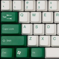 Tai-Hao White & Green ABS Double Shot Keycap Set